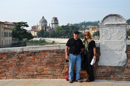 Augie and Teresa on the Roman Bridge