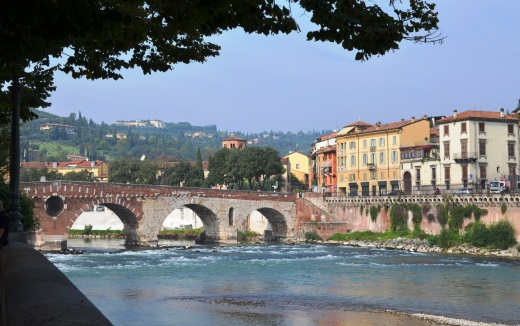 The Roman Bridge (Ponte Pietra) in Verona