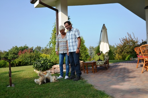 Romy Rocker and Claudio Bartolamai of the Romy Rocker B&B in the hills above Verona