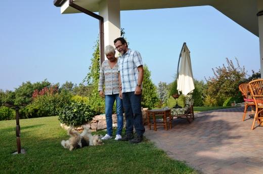 Romy Rocker and Claudio Bartolamai of the Romy Rocker B&B in the hills above Verona