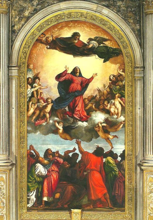 Tiziano Vecellio's 'Assunta', at the Basilica S. Maria Gloriosa dei Frari in Venice.