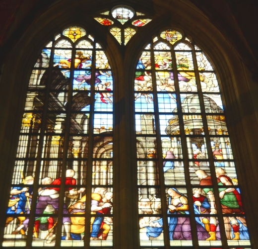 The Adoration of the Shepherds window in the Lady's Chapel