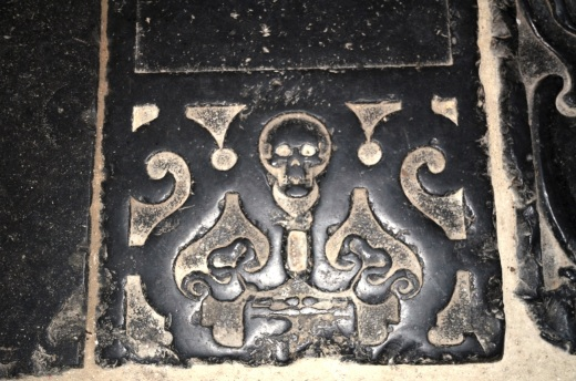 Gravestone floor of the church