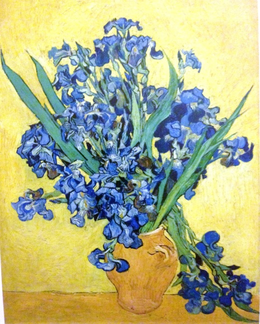 Irises, Saint-Remy, May 1890.  According to van Gogh the canvas needed a month to dry on account of its impasto (thickly applied paint).
