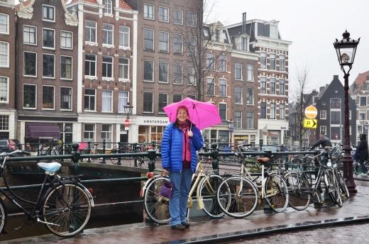 Katy with umbrella