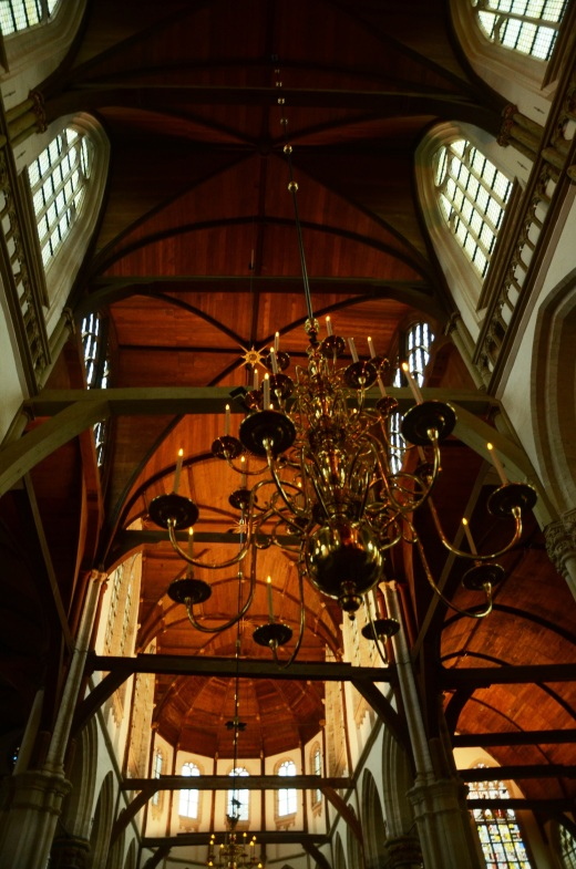 Gothic wooden ceiling