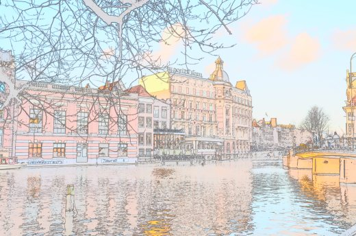 Using the Nikon color sketch feature on one of the canal photos