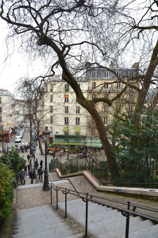 Looking down from the Montmartre hillside