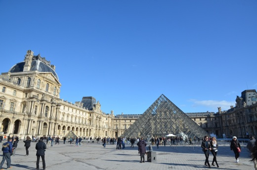 The sunny weather that greeted us as we exited The Louvre