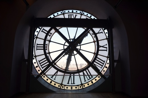 Inside the Musee d'Orsay looking the clock