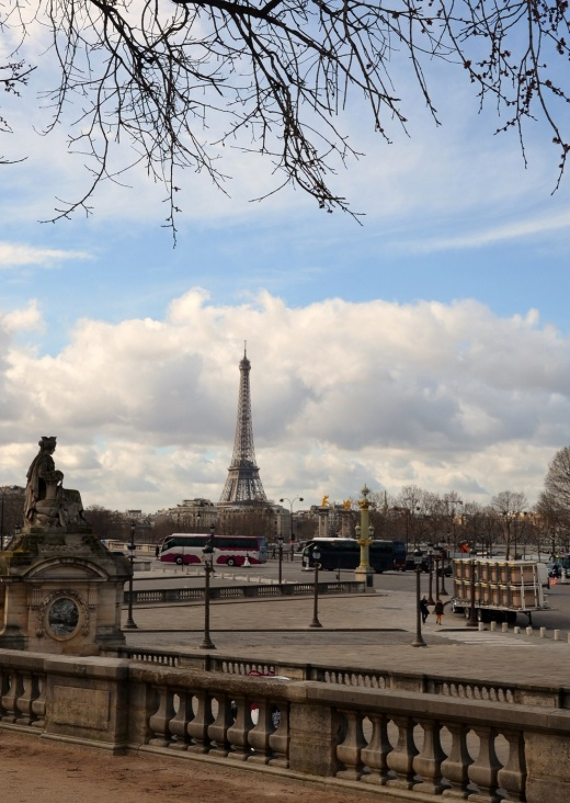 Eiffel Tower taken from near the Place de la Concorde