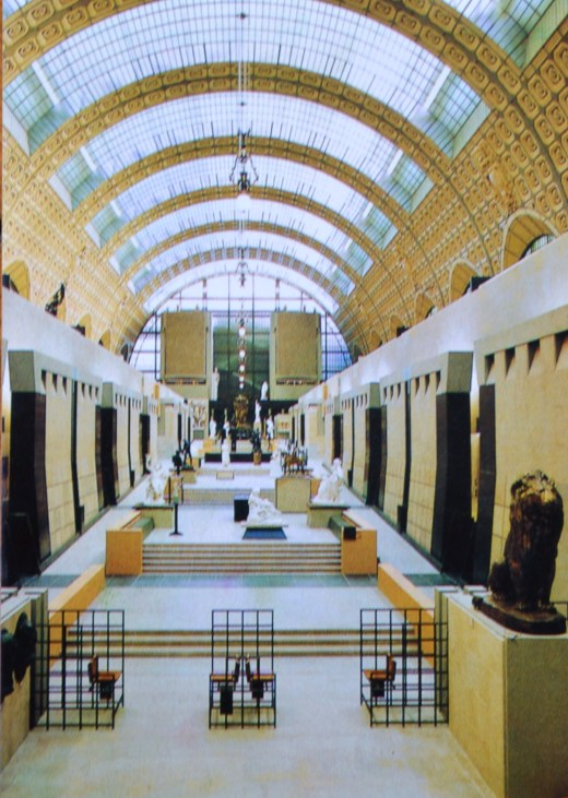 Postcard of the Vue de l'allee centrale, Musee d'Orsay