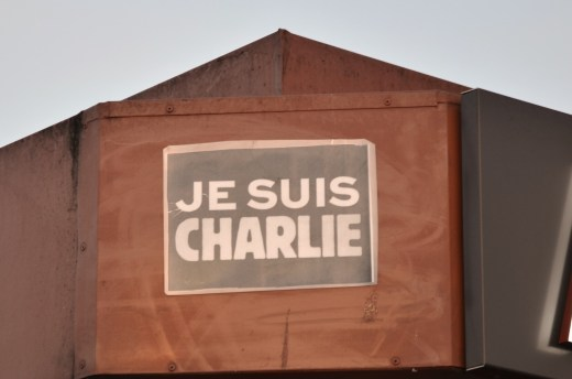 The only place we saw Je Suis Charlie was on a crepe stand at the base of the Eiffel Tower