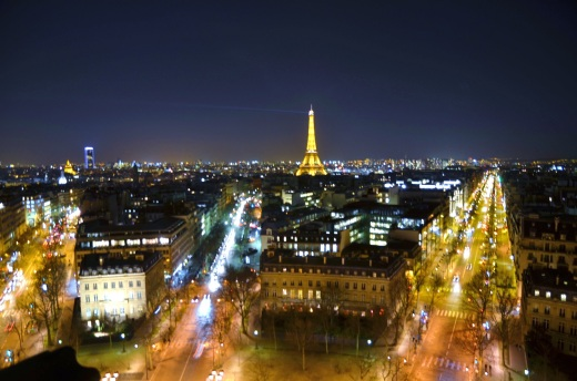 Taken from the top of the Arc de Triomphe