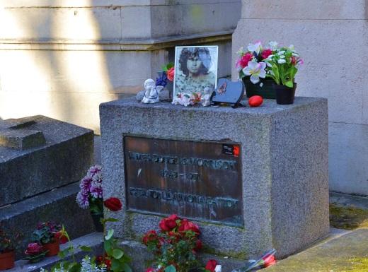 Jim Morrison's grave.