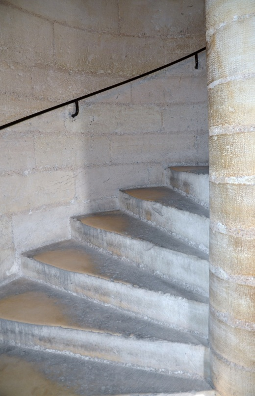 The winding staircase to the top of the Towers of Notre-Dame