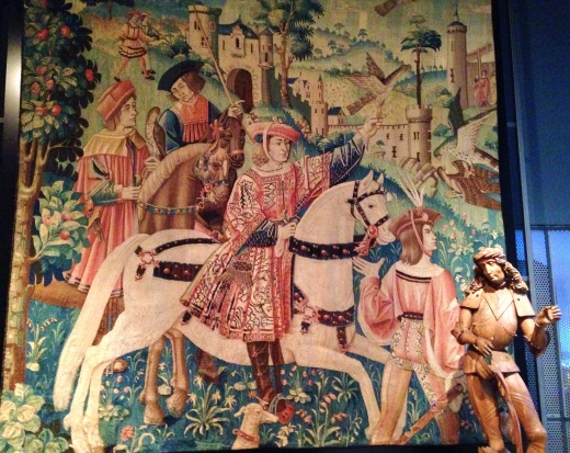 Tapestries also depicted jousts and people on horseback