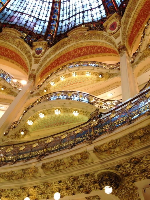 Beautiful interior to Galeries Lafayette