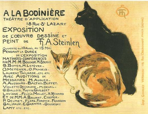 Steinlen, A la Bodiniere.  1894
