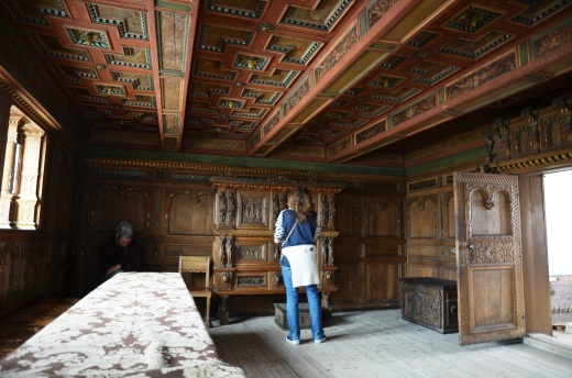 The Aalborg room in the Aalborg Historical Museum. Room 602 is the most well-preserved civil Renaissance interior in the country.