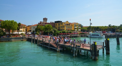 Approaching Sirmione on the ferry