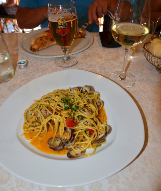 The best spaghetti with clams I have ever tasted