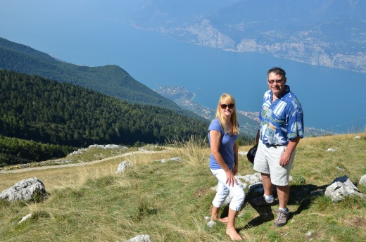 Me and Augie from on top of Monte Baldo looking out over Lake Garda