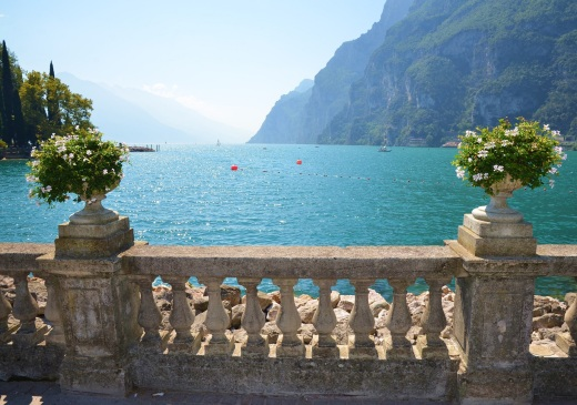 Looking south from Riva del Garda onto Lake Garda