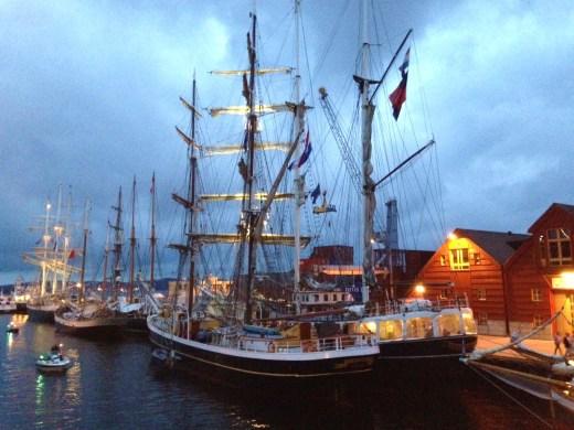 Tall Ships in Kristiansand harobr