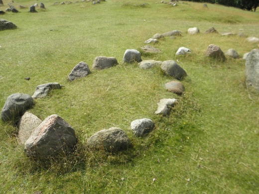 Viking burial site at Lindholm Hoje, dating from AD 400