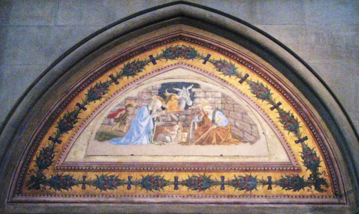 Botticelli's Nativity in the basilica. Photo credit Teresa Favazza