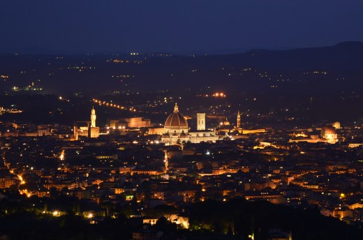 The night shot of Florence we worked to get