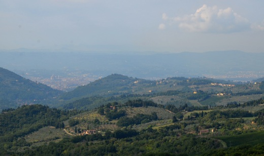 As we climbed higher, we could still see Florence in the distance.