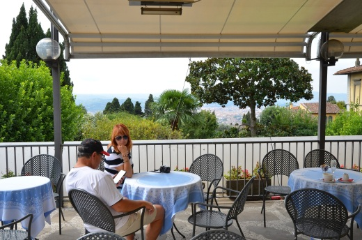 Our last lunch spot in Fiesole overlooking Florence.