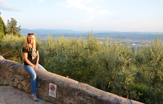 Me overlooking Florence from Fiesole