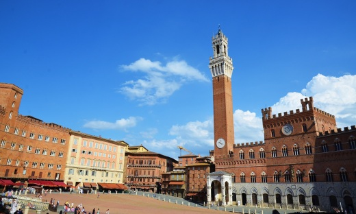 Piazza del Campo in Siena. This is where the palio horse race is held