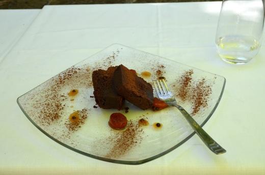 Awesome dessert, torta di ciccolata albicocchi