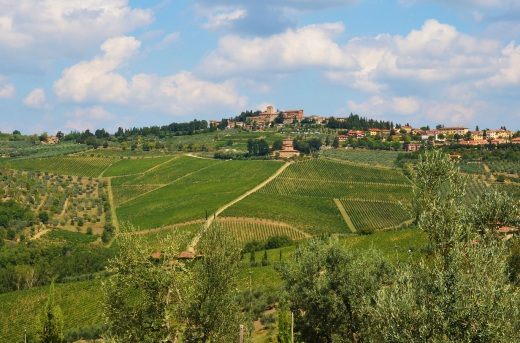 Typical countryside in Tuscany