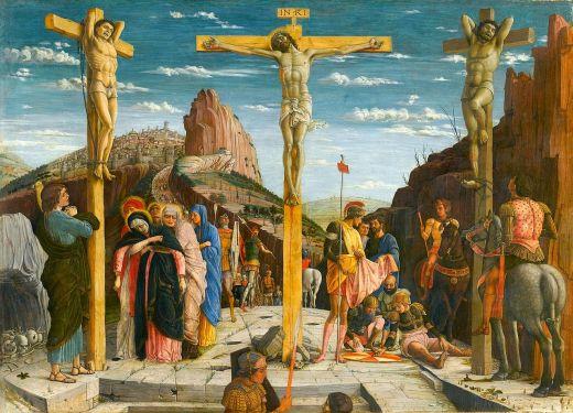 Andrea Mantegna's Crucifixion, c. 1457-59, altar piece,