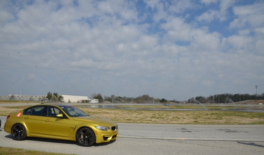 My M3 with the skid pad in the background