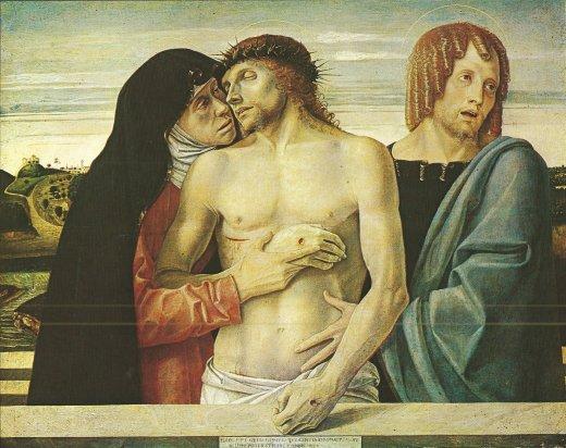 Giovanni Bellini's Pieta, c. 1468-71. Brera Gallery, Milan
