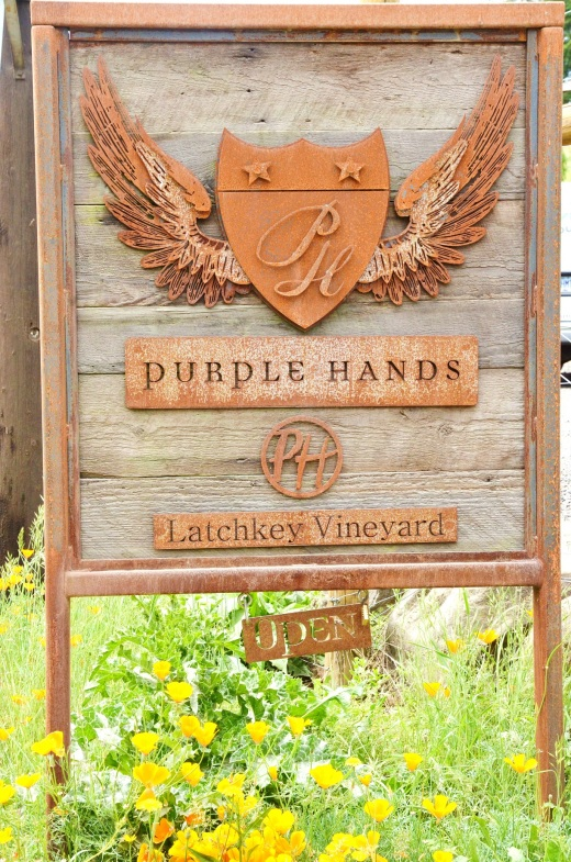 Purple Hands sign