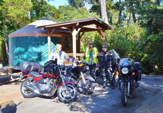 Our touring group makes it to Bullards Beach State Park campgrounds