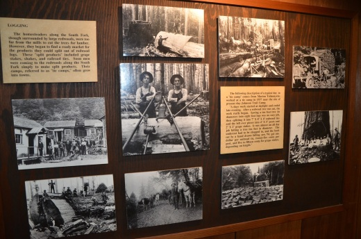 Black and white photos in the visitor's center