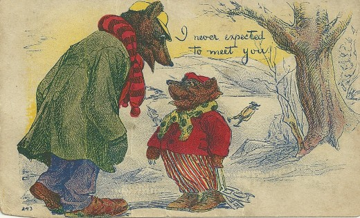 This postcard was sent in early December 1909.