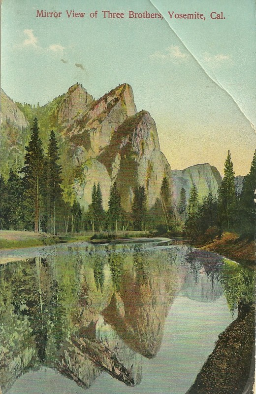 Yosemite postcard, postmarked Dec 29 1908. The postcard was printed in Germany, sent to my Grandmother in Arcata, from a friend in Oakland.