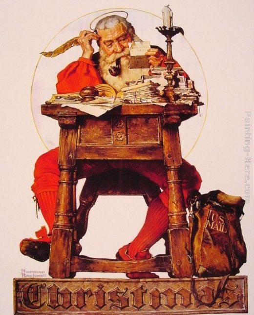 Norman Rockwell's Santa