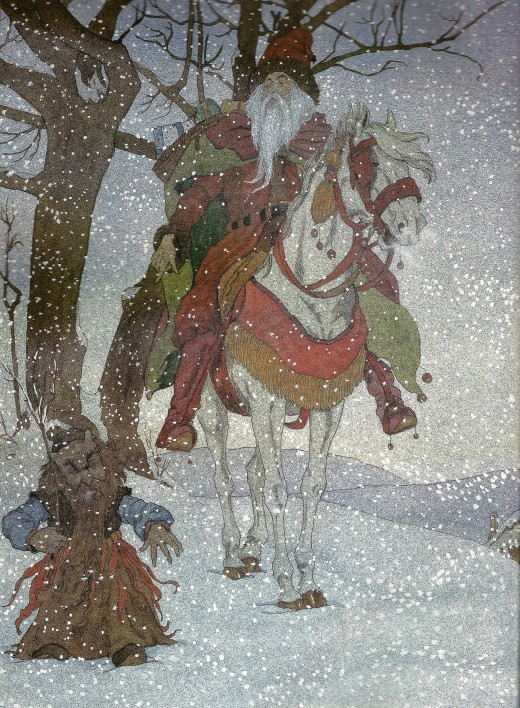 Michael Haute's version of Odin from the book The Book of Christmas