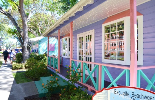 Chattel House shopping area in Holetown, Barbados