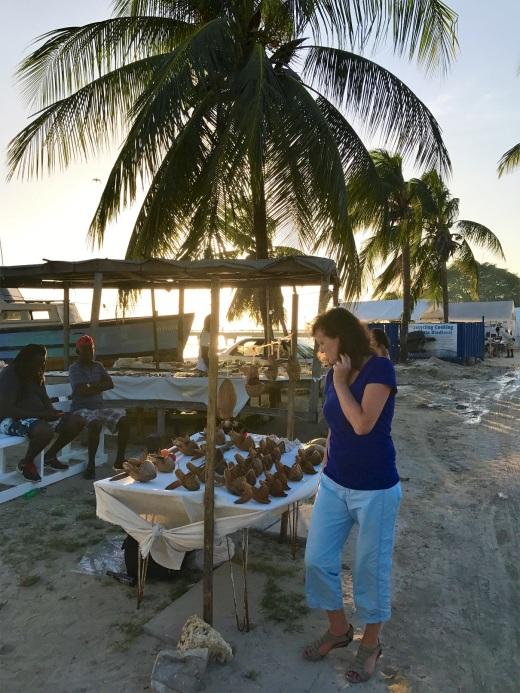 Cruising market stalls